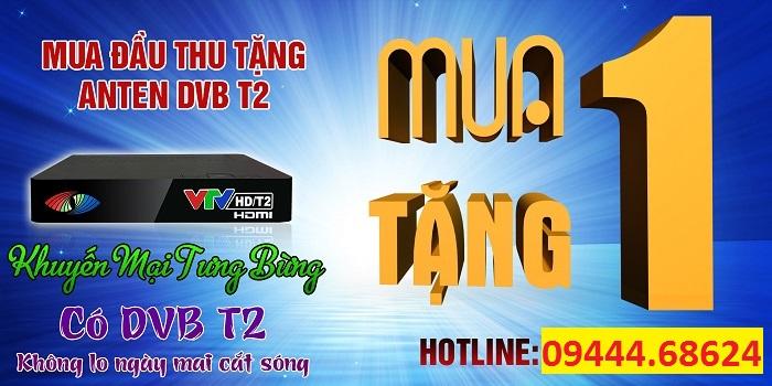 Khuyến Mãi Mua Đầu Thu mặt Đất Tặng Anten DVB-T2