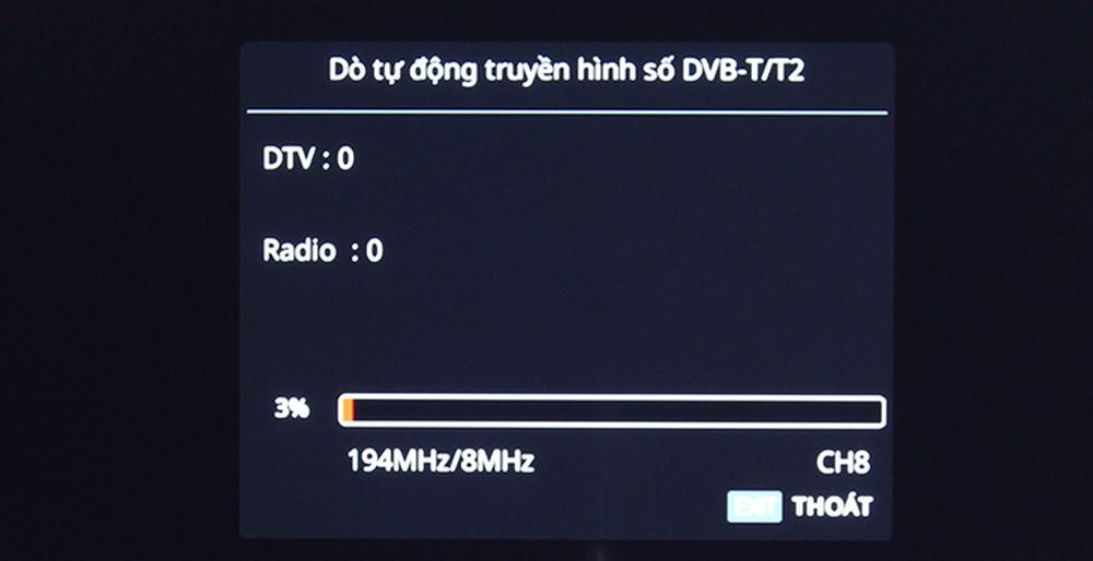 Dò tự động truyền hình số DVB T2
