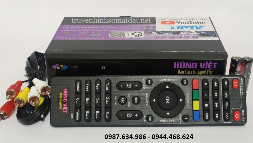 Đầu thu DVB T2 Hùng Việt 789s wifi
