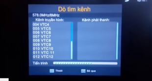 Quá trình dò tìm kênh DVB T2