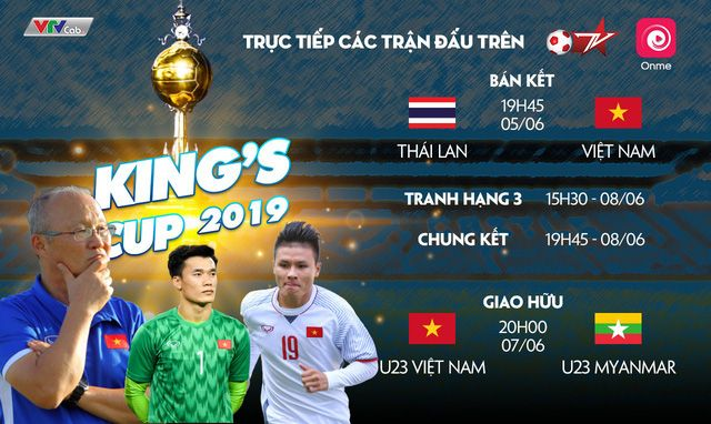 VTC chính thức phát sóng trực tiếp các trận đấu của tuyển Việt Nam tại KIng's Cup 2019