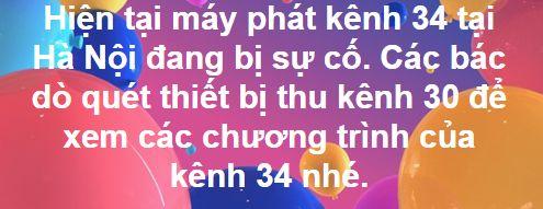 Sự cố mất kênh truyền hình số mặt đất DVB T2 tại Hà Nội