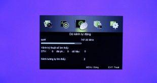 Dò kênh DVB T2 miễn phí trên tivi Asanzo tích hợp giải ma DVB T2
