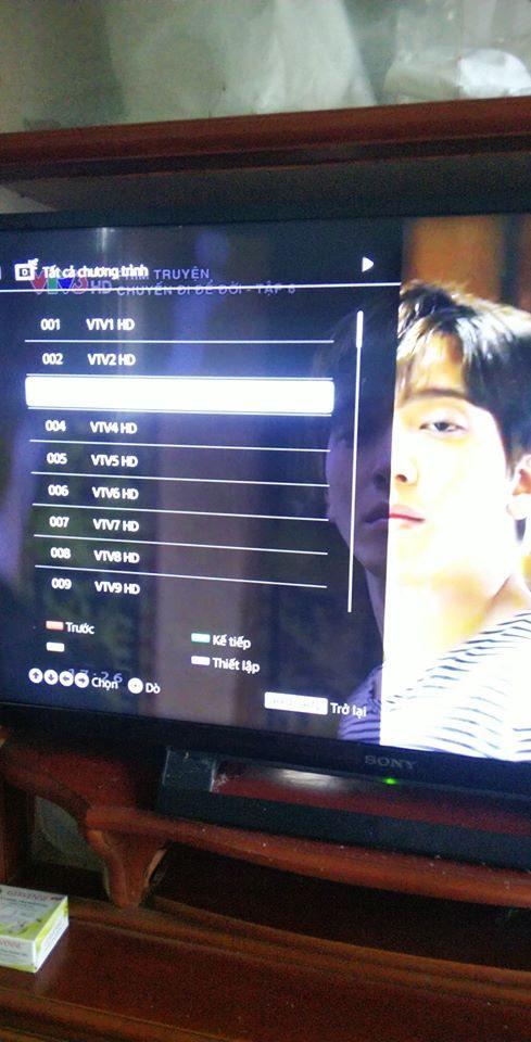 Danh sách các kênh truyền hình DVB T2 miễn phí của Đài Truyền hình Việt Nam